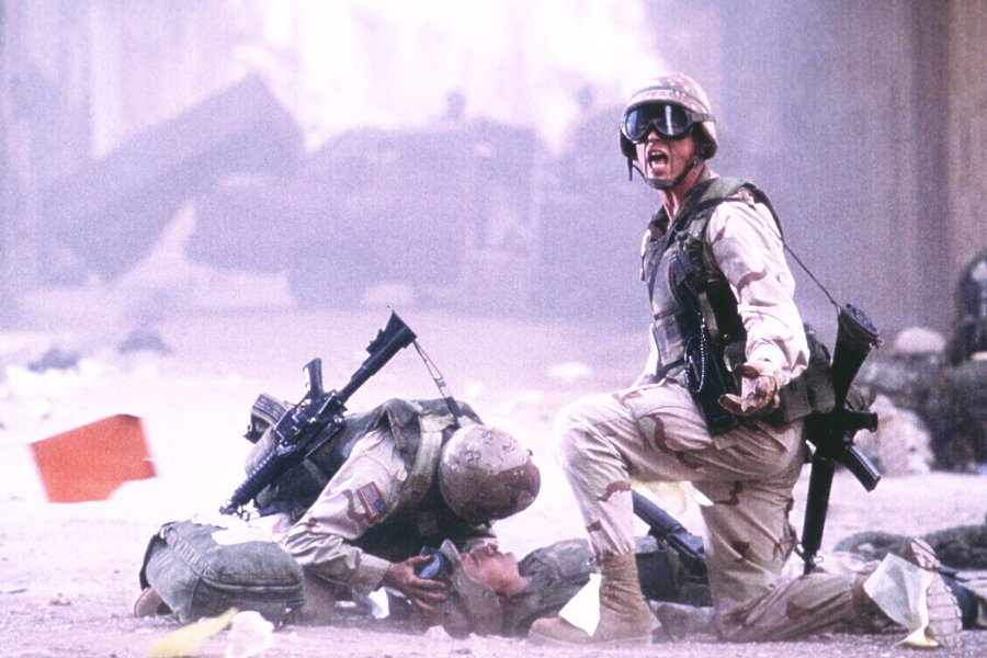 a review of the movie black hawk down Mark bowden's ''black hawk down: it happened like a slow-motion sequence in a movie, or a dream the d-boy driving, foreman, was a helluva shot.